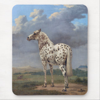 The Piebald Horse Mouse Pad