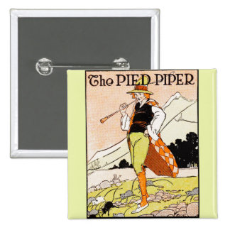The Pied Piper Children's Nursery Pinback Button