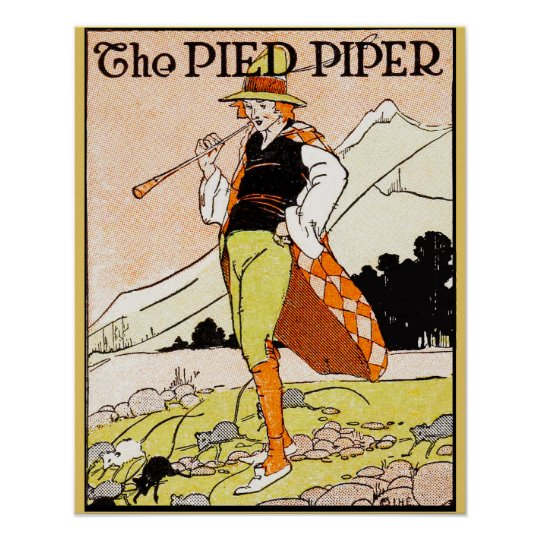 The Pied Piper Children's Nursery Poster