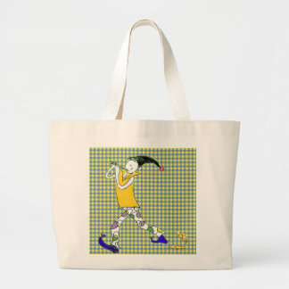 The Pied Piper of Hamelin Large Tote Bag