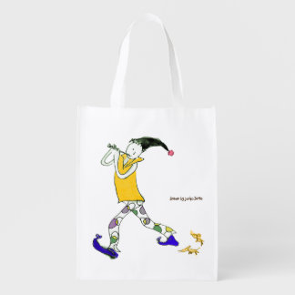 The Pied Piper of Hamelin sign Grocery Bag