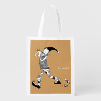The Pied Piper of Hamelin sign Grocery Bags