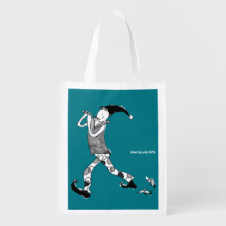 The Pied Piper of Hamelin sign Reusable Grocery Bag
