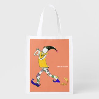 The Pied Piper of Hamelin sign Reusable Grocery Bags