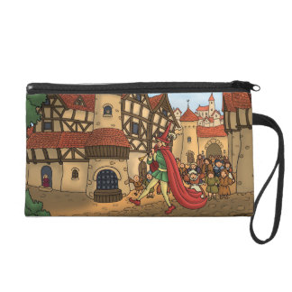 the pied piper & the children fairytale wristlet