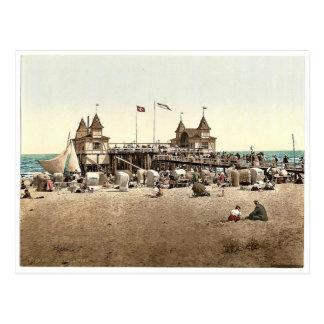 The pier, Ahlbeck, Pommeraina sic, Germany rare Ph Postcard