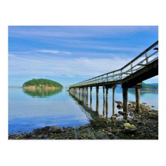 The Pier at Bennett Bay, Mayne Island, B.C. Postcard