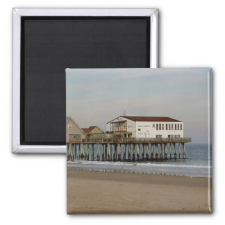 The Pier at Old Orchard Beach, Maine 2 Inch Square Magnet