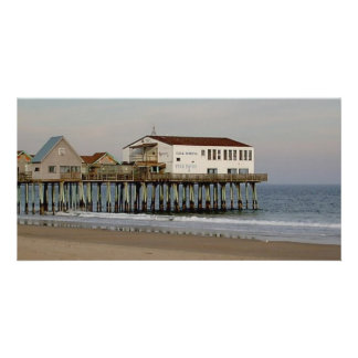 The Pier at Old Orchard Beach, Maine Customized Photo Card