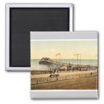 The pier, Hastings, England rare Photochrom 2 Inch Square Magnet