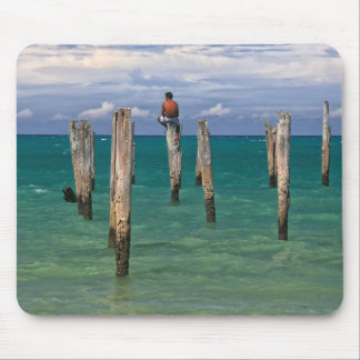 The Pier In Coqueiros Beach In Trancoso Mouse Pad