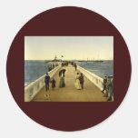 The pier Ostend Belgium Stickers