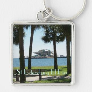 The Pier St Petersburg Florida Keychain