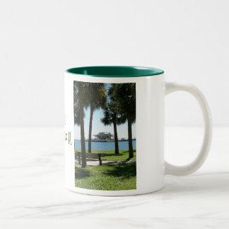 The Pier St Petersburg Florida Two-Tone Coffee Mug