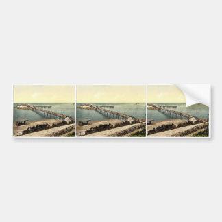 The pier, Weston-super-Mare, England rare Photochr Bumper Stickers