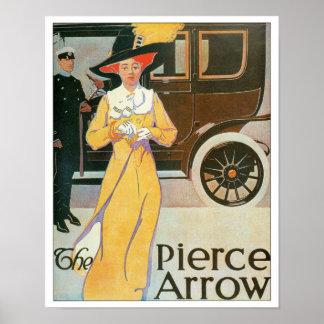 The Pierce Arrow Automobile Ad Vintage Art Poster