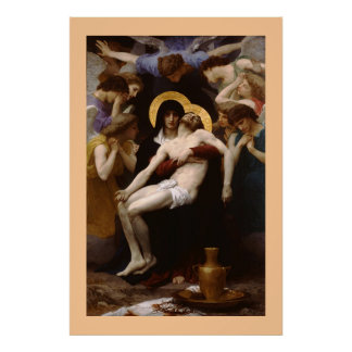 The Pieta by Bouguereau Poster