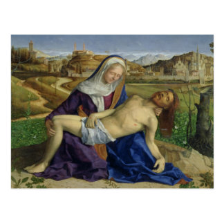 The Pieta, c.1505 (oil on panel) (post 1996 restor Postcard