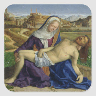 The Pieta, c.1505 (oil on panel) (post 1996 restor Square Sticker