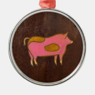 The Pig 2009 Metal Ornament