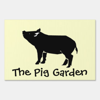 The Pig Garden Lawn Sign