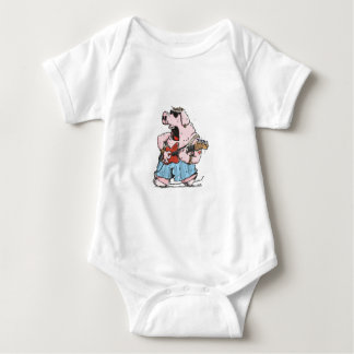 The Pig has the Blues Baby Bodysuit