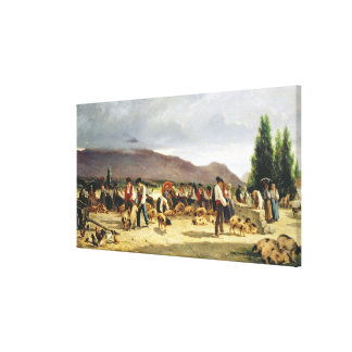 The Pig Market, 1875 Canvas Print