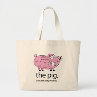 The Pig. Nature's Tasty Miracle Jumbo Tote Bag