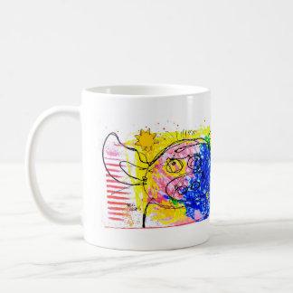 the pig that holds its breath. coffee mug