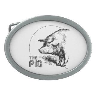 THE PIG VINTAGE BELT BUCKLES