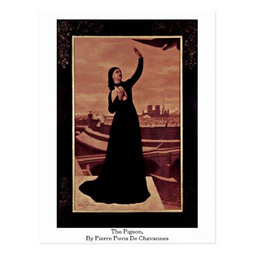 The Pigeon, By Pierre Puvis De Chavannes Postcard