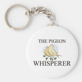 The Pigeon Whisperer Basic Round Button Keychain