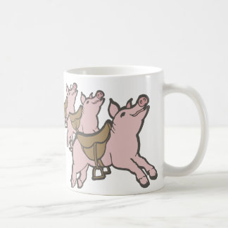 The pigs are saddled ready to fly office humor mug