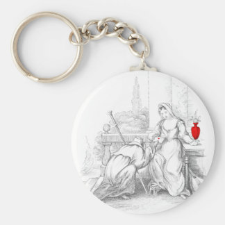 The Pilgrim Delivers a Message Keychain