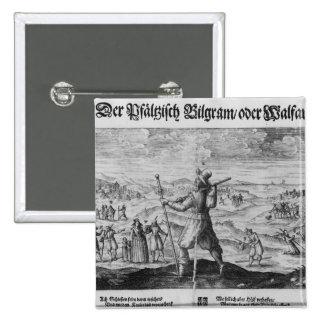 The Pilgrim of Palatinate', Frederick V Pinback Button