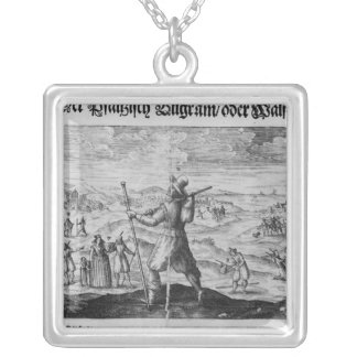 The Pilgrim of Palatinate', Frederick V Silver Plated Necklace