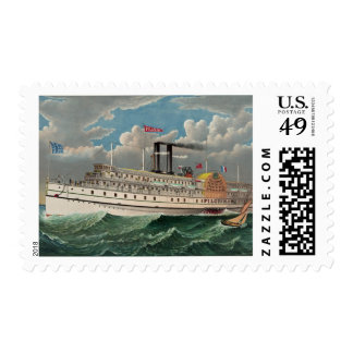 The Pilgrim Steam Boat Stamp