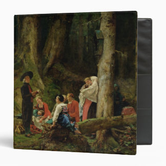 The Pilgrims from the Abbey of St. Odile 3 Ring Binder