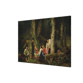 The Pilgrims from the Abbey of St. Odile Canvas Print
