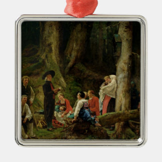 The Pilgrims from the Abbey of St. Odile Metal Ornament