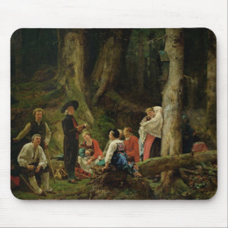 The Pilgrims from the Abbey of St. Odile Mouse Pad