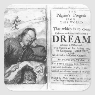 The Pilgrim's Progress' Square Sticker
