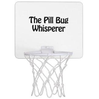 the pill bug whisperer mini basketball backboard