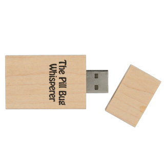 the pill bug whisperer wood USB 2.0 flash drive