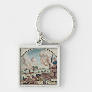 The Pillage and Destruction of Chateaux Silver-Colored Square Keychain