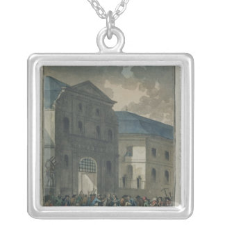 The Pillage of the Saint-Lazare Convent Silver Plated Necklace