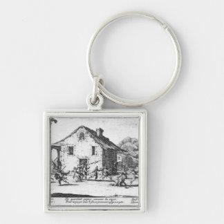 The Pillaging of an Inn Keychain