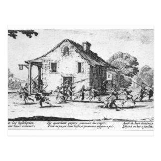 The Pillaging of an Inn Postcard