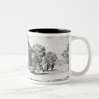 The Pillaging of an Inn Two-Tone Coffee Mug