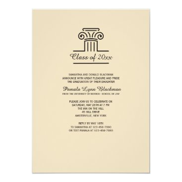 Lawyer Themed The Pillar (Tan) Invitation